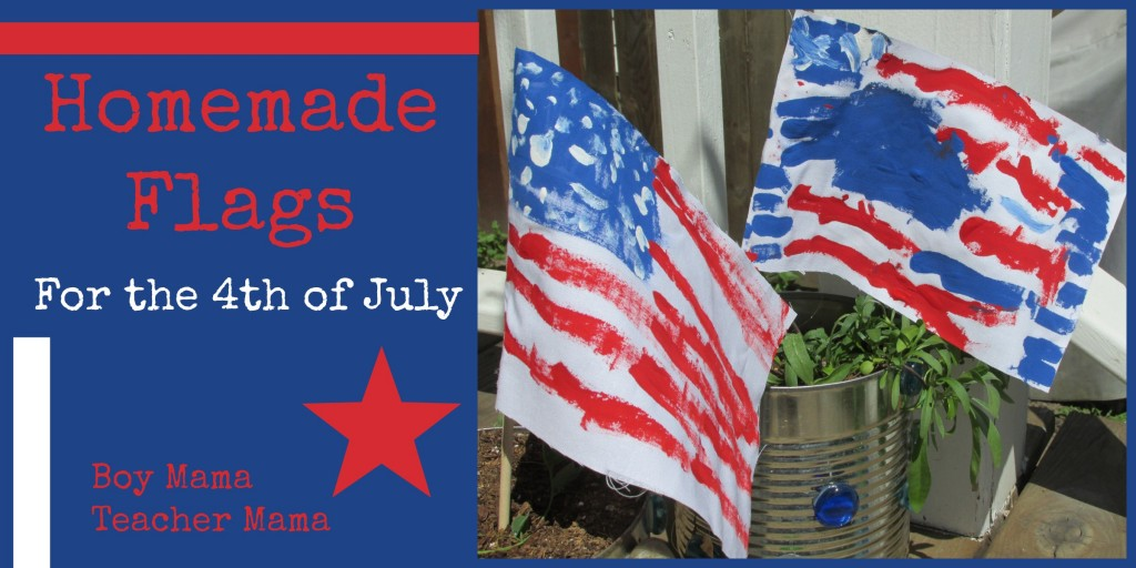 Boy Mama Teacher Mama | Homemade American Flag
