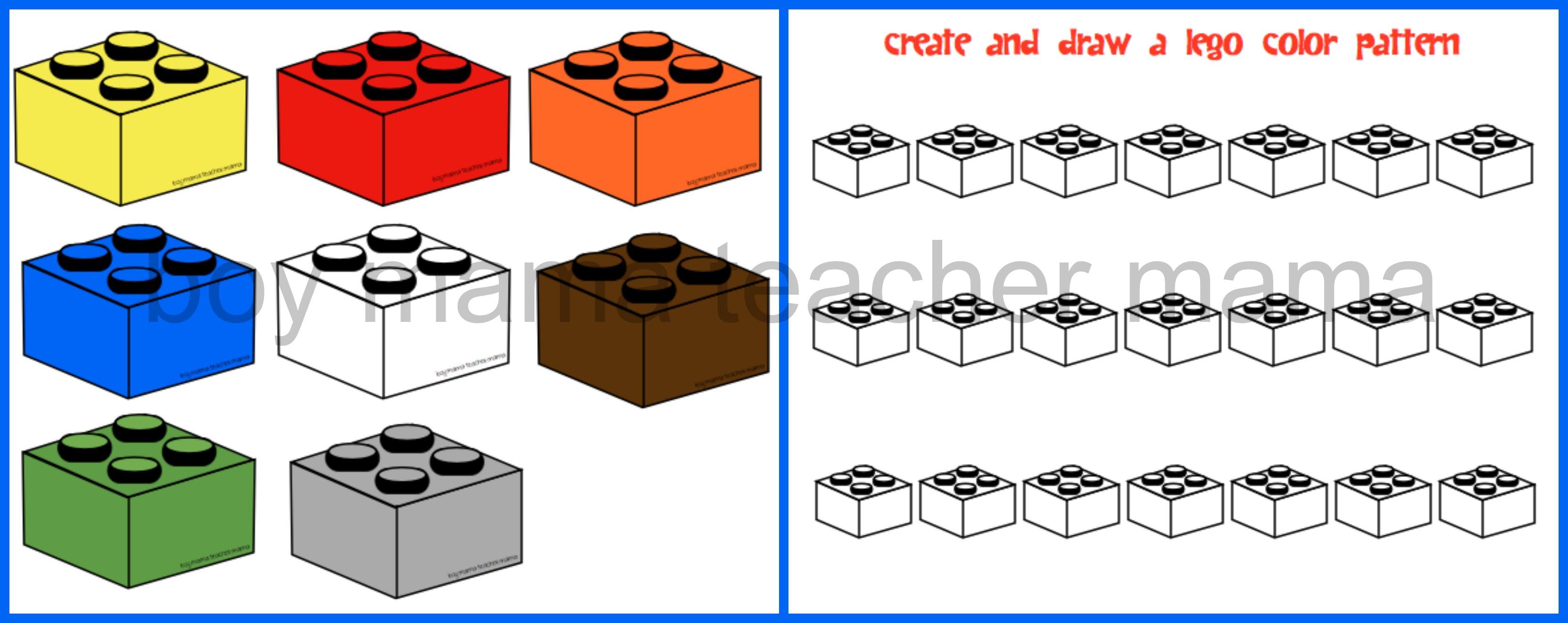 how to draw lego blocks