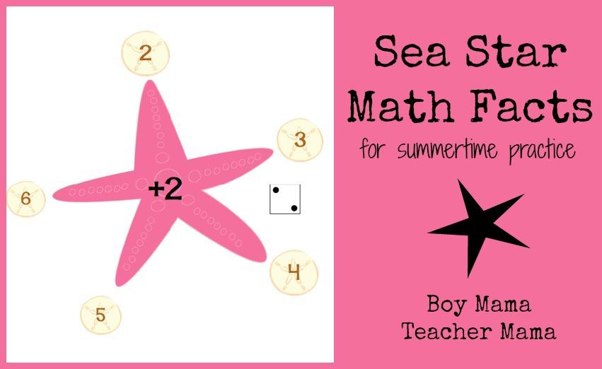 Boy Mama Teacher Mama: Sea Star Math Facts
