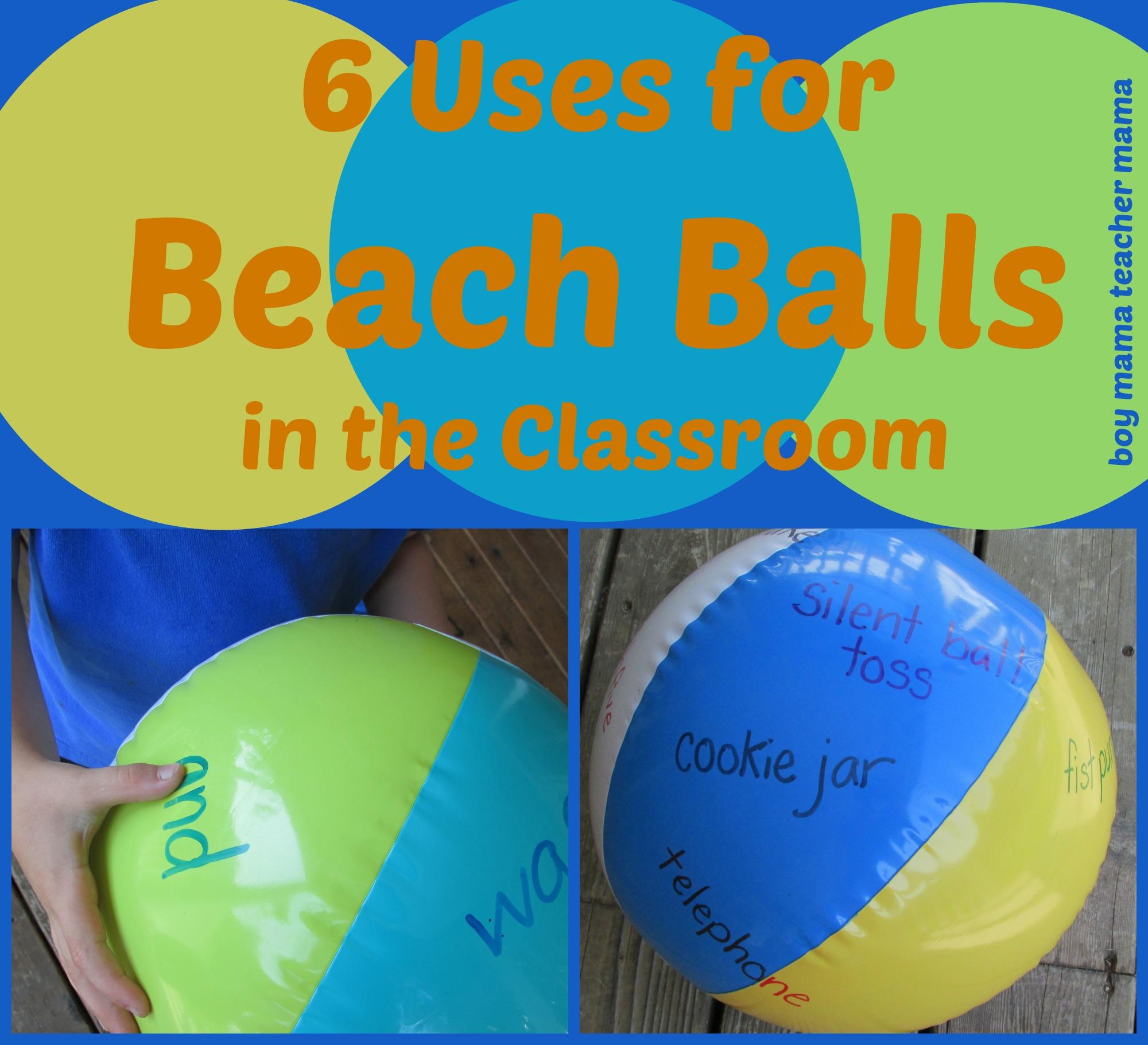 Classroom Ideas Beach Theme ~ Teacher mama uses for beach balls in the classroom