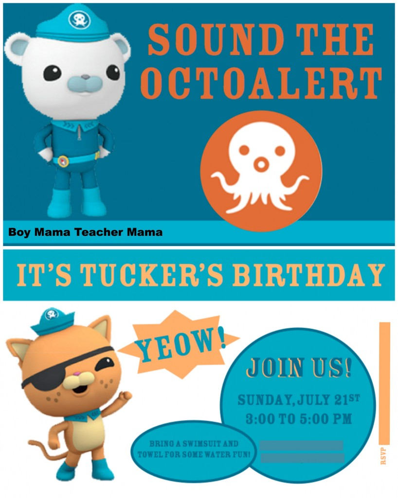 Boy Mama Teacher Mama | An Octonauts Birthday Party invitation