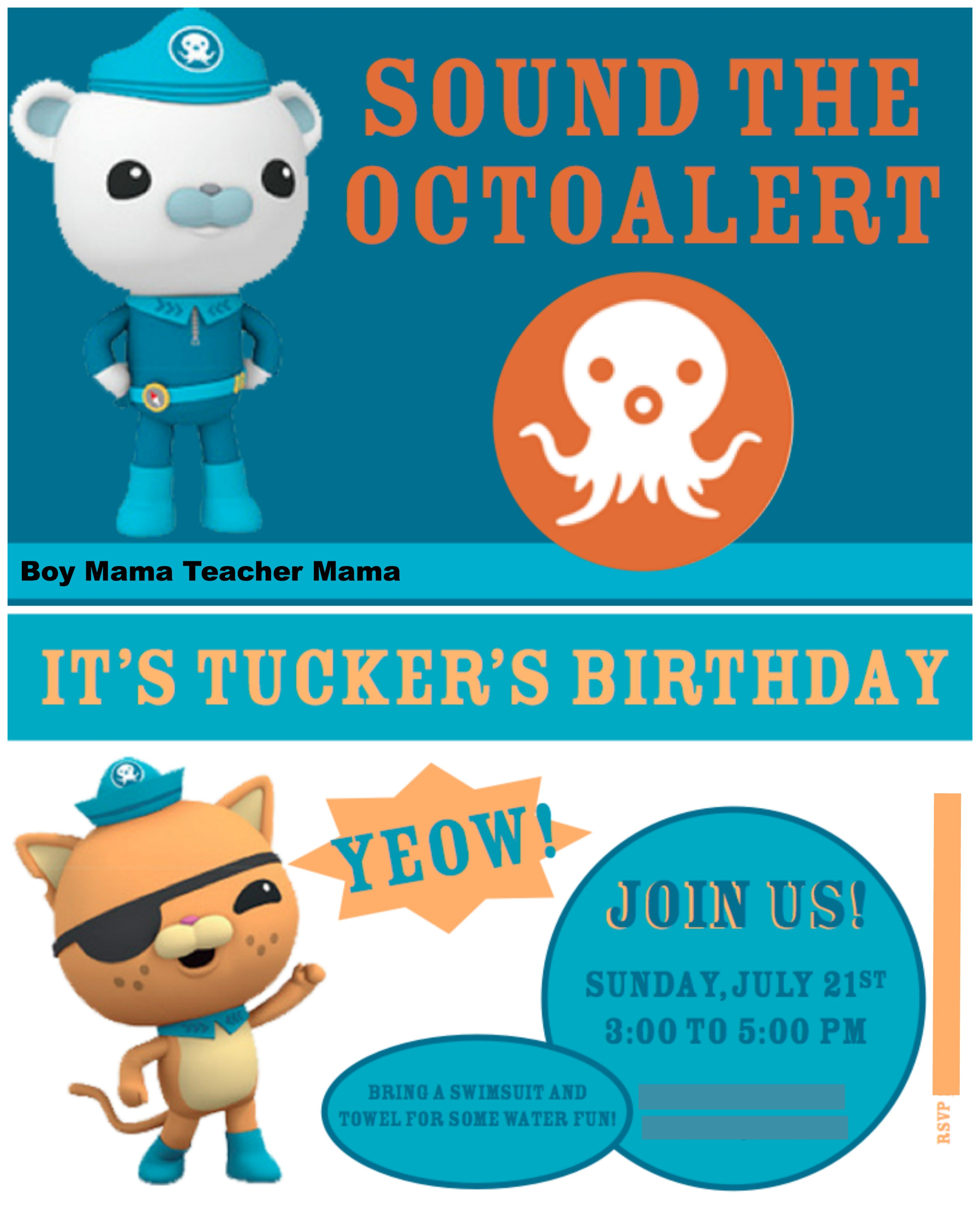 Boy Mama An Octonauts Birthday Party Boy Mama Teacher Mama