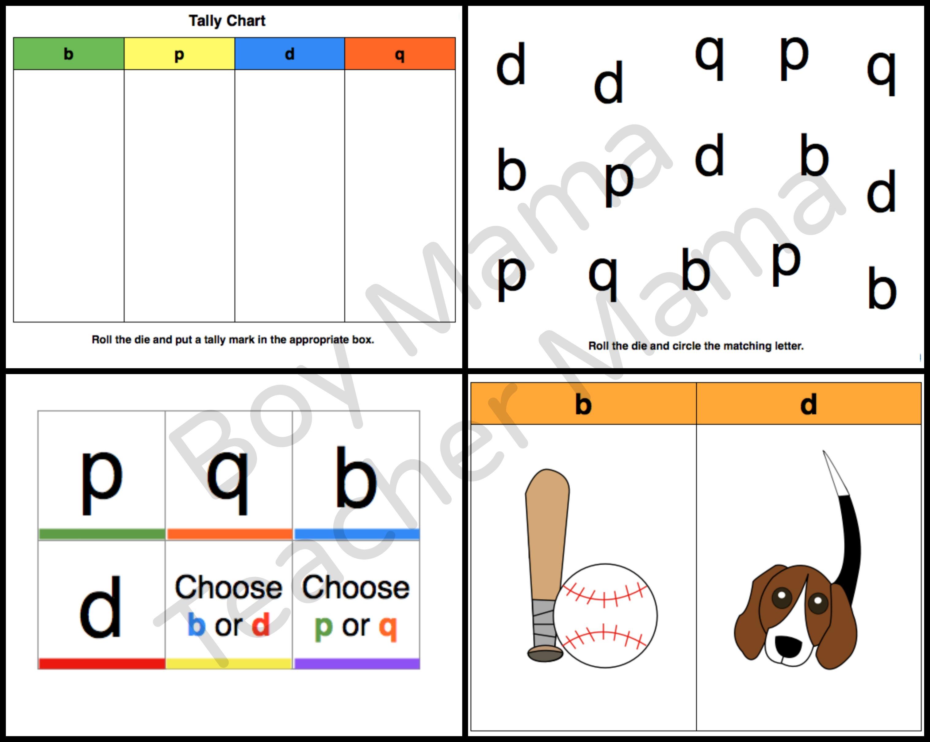 Teacher Mama Games for Letter Reversals Boy Mama Teacher Mama – Letter Reversal Worksheets