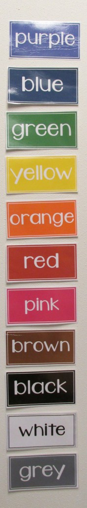 Teacher Mama: FREE Color Word Labels