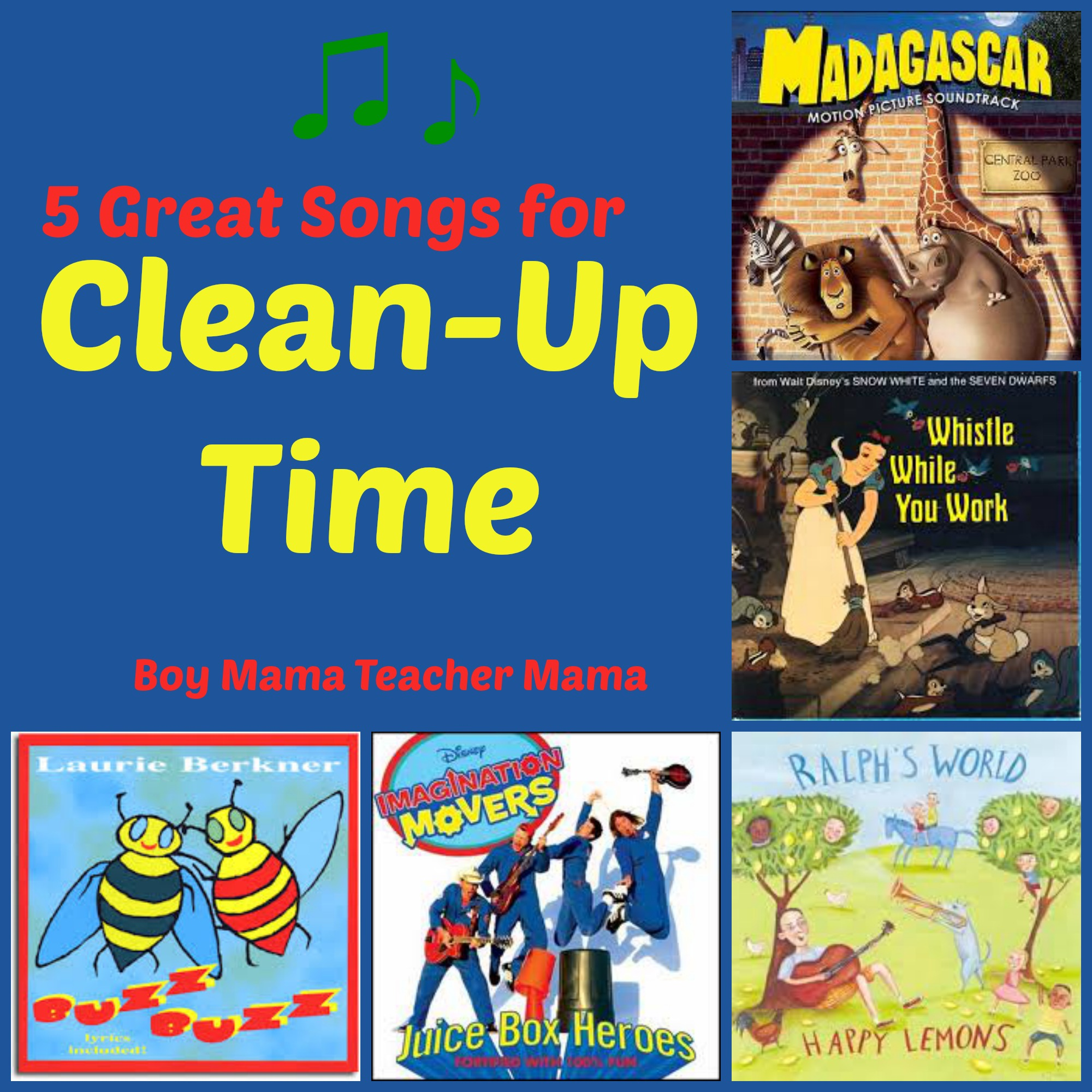 Teacher mama 5 great songs for clean up time boy mama for Music to clean to