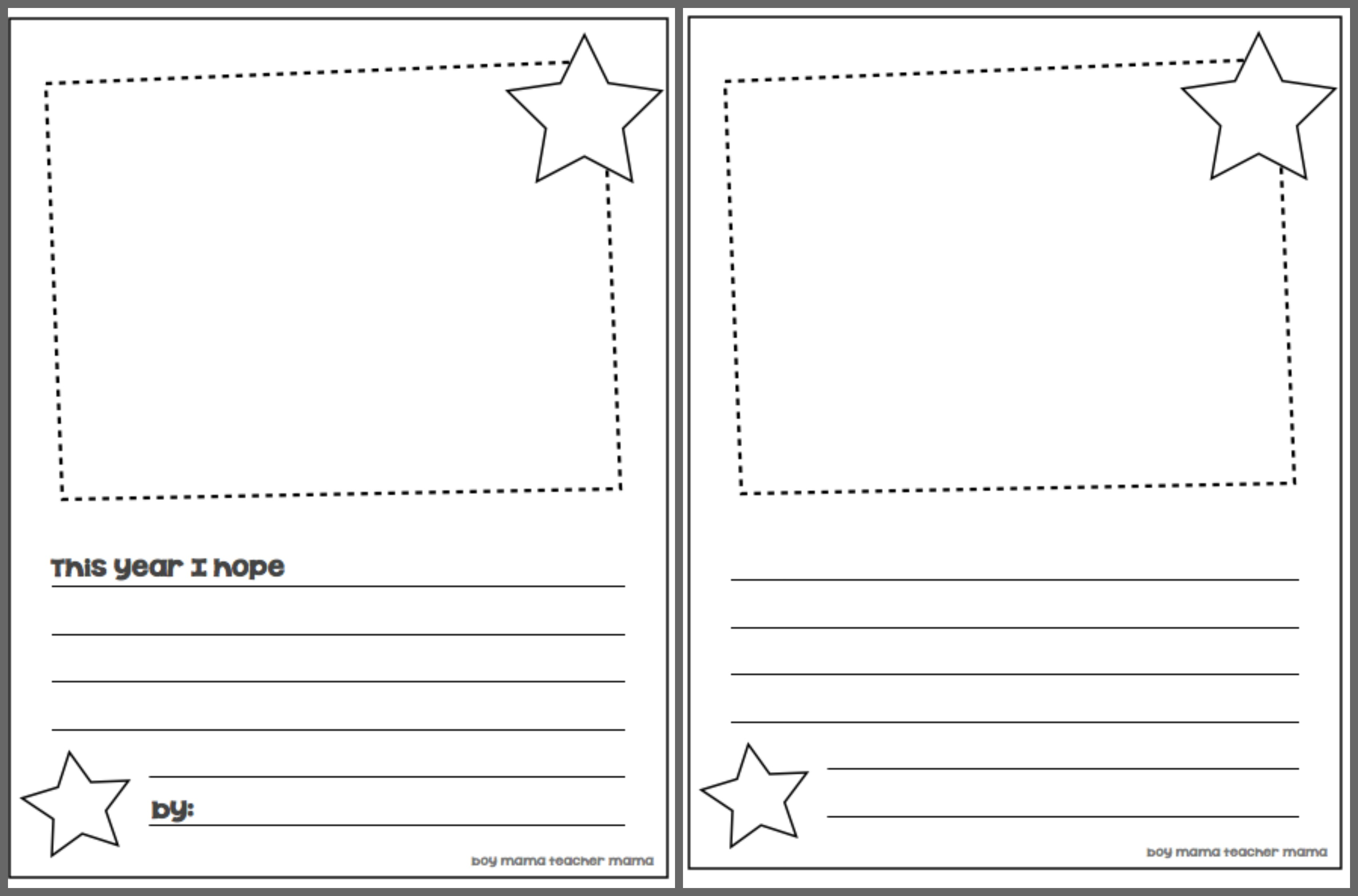 school writing paper template