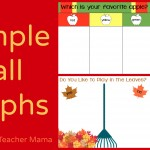 Boy Mama Teacher Mama | 4 Simple Fall Graphs