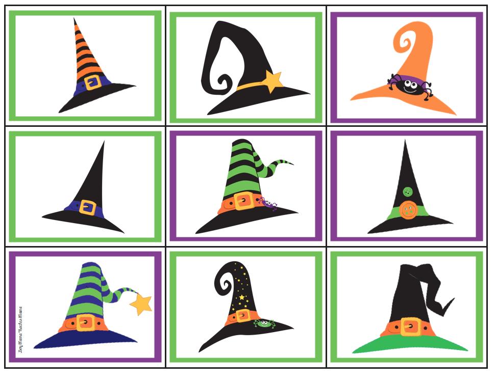 Boy Mama Teacher Mama | FREE Halloween Witch Hat Memory Game