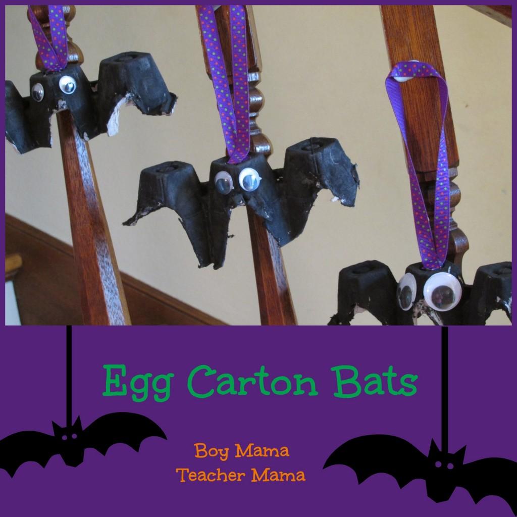 Boy Mama Teacher Mama | Egg Carton Bats