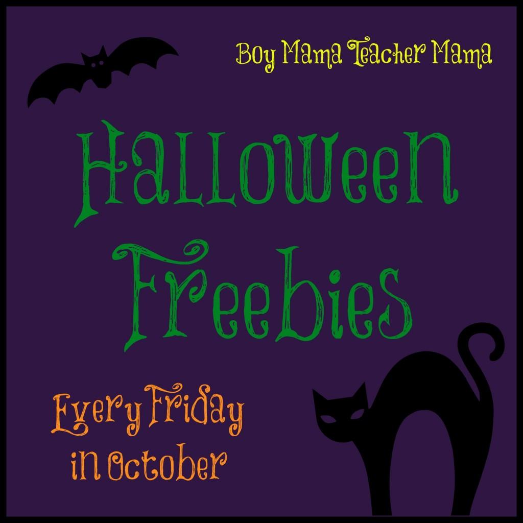 Boy Mama Teacher Mama | Halloween Freebies in October
