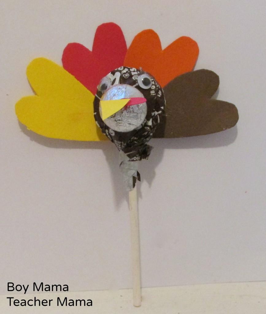 Boy Mama Teacher Mama  Thanksgiving Turkey Lollipops 6