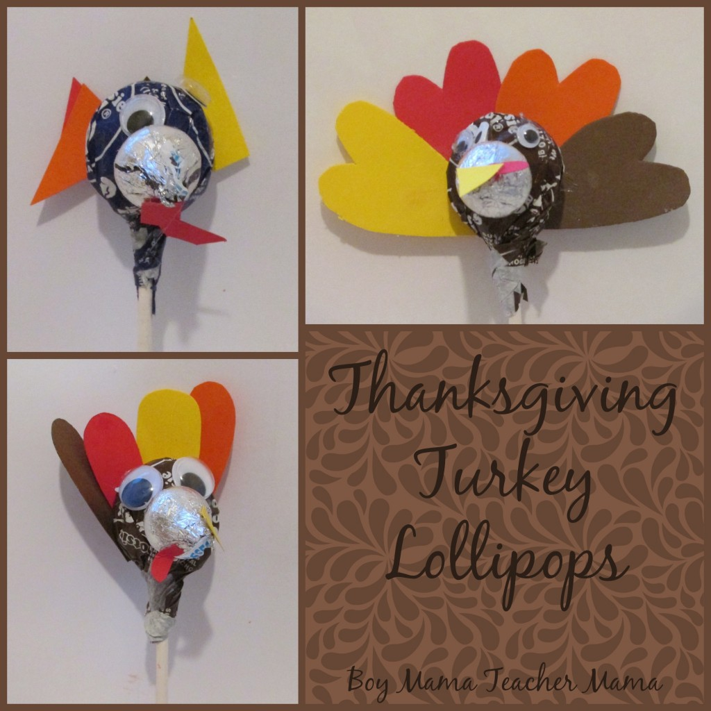Boy Mama Teacher Mama  Thanksgiving Turkey Lollipops (featured)