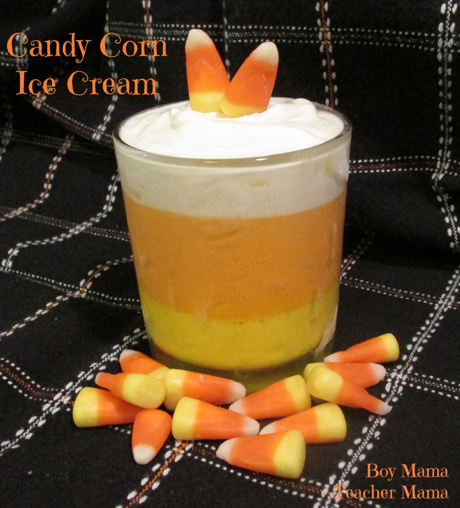 candy corn ice cream treat