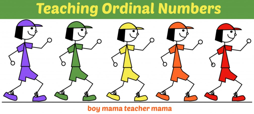 Boy Mama Teacher Mama | Teaching Ordinal Numbers