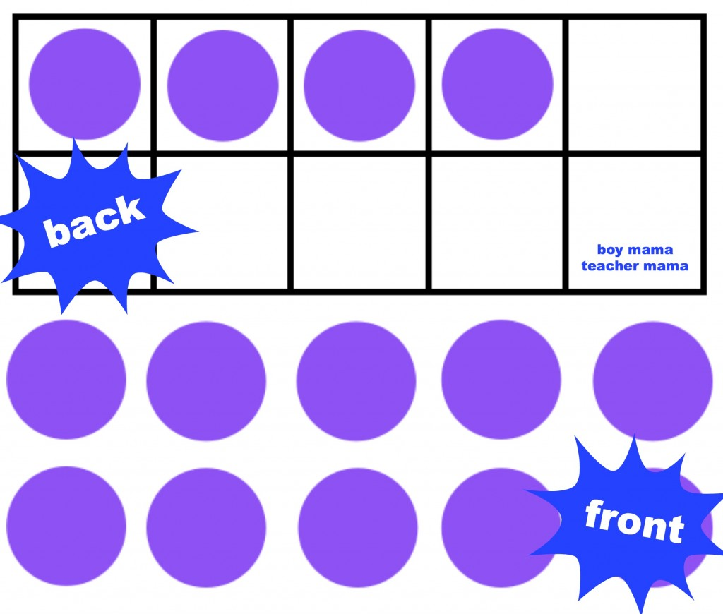 Boy Mama Teacher Mama: The Ten Frame Memory Game
