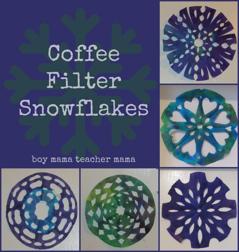 Boy Mama Teacher Mama  Coffee Filter Snowflakes (featured)