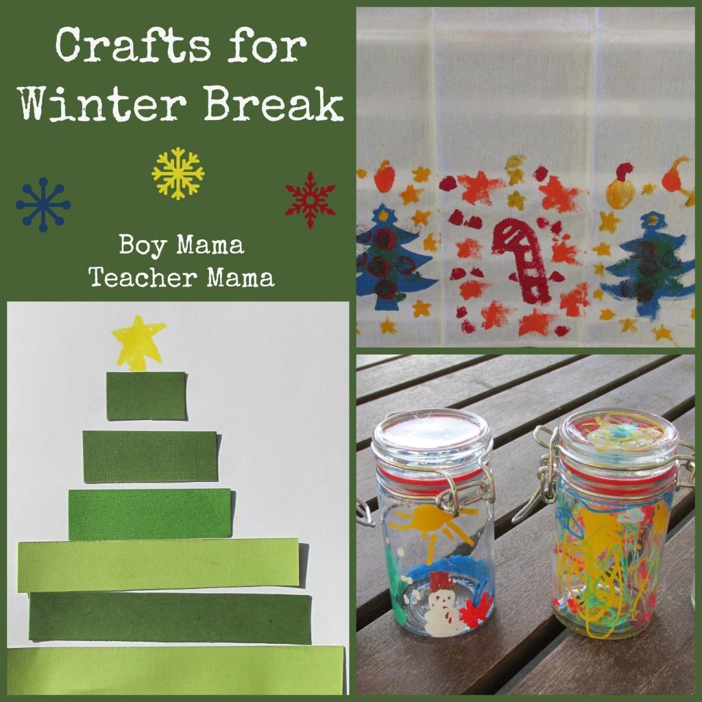 Boy Mama Teacher Mama  Crafts for Winter Break (featured)