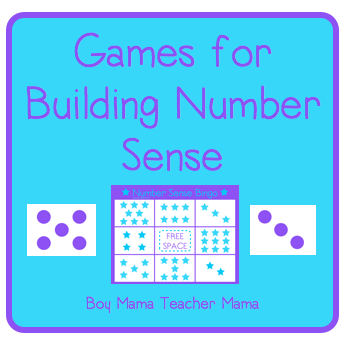 Boy Mama Teacher Mama: Number Sense Games