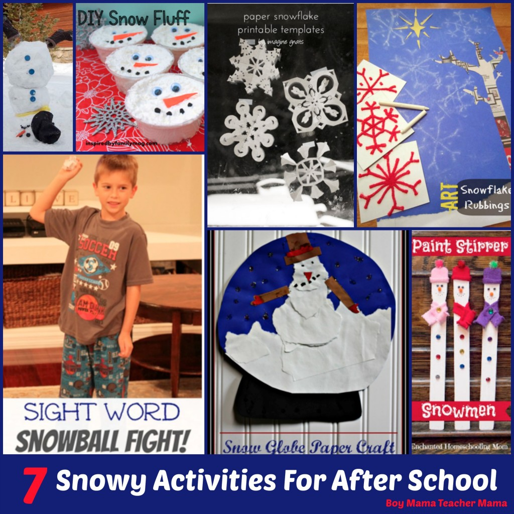 Boy Mama Teacher Mama 7 Snowy Activities for After School