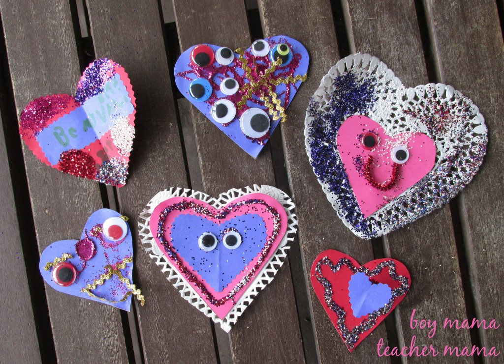 Boy Mama Teacher Mama  Five Little Valentines 7