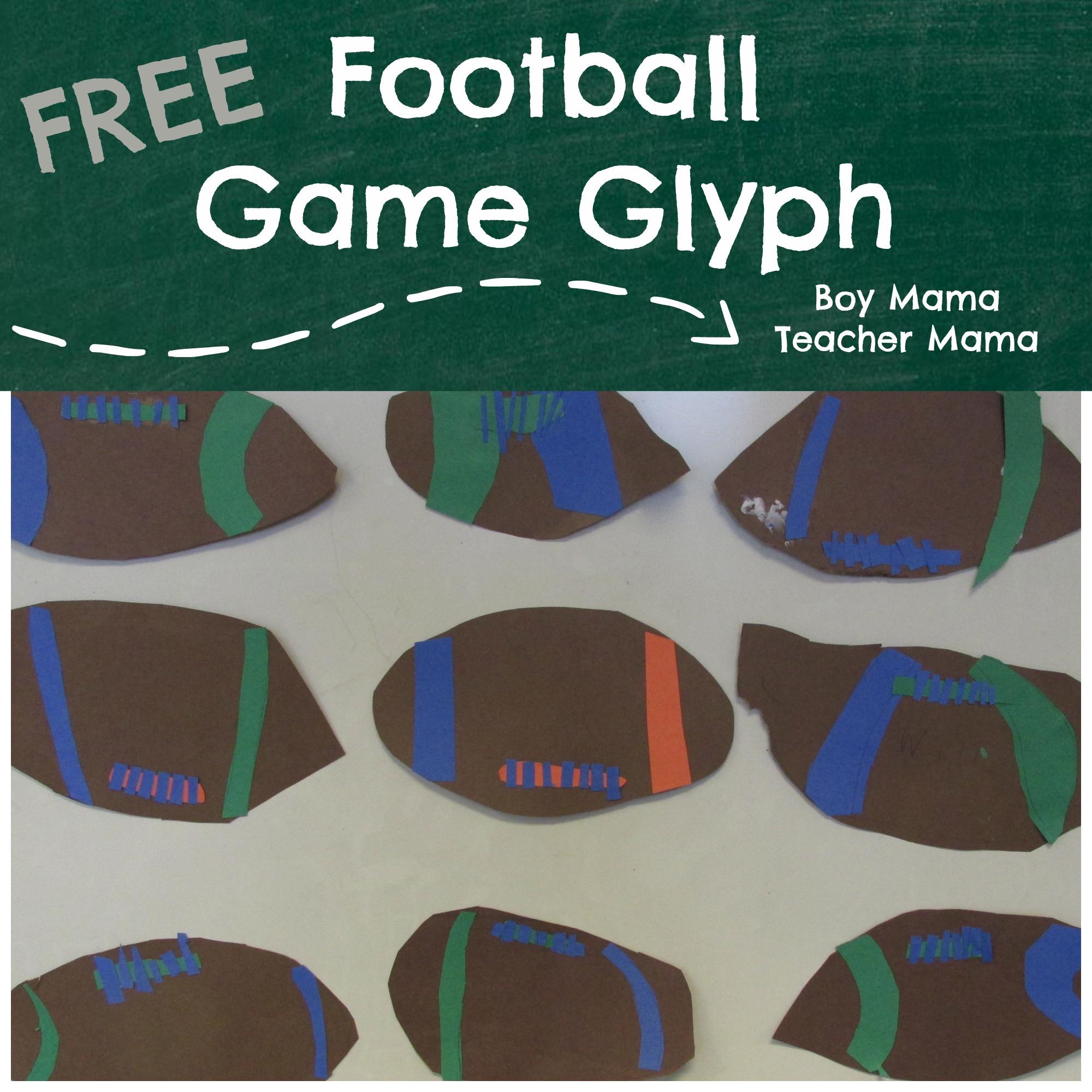 Boy Mama Teacher Mama Football Game Glyph FEatured