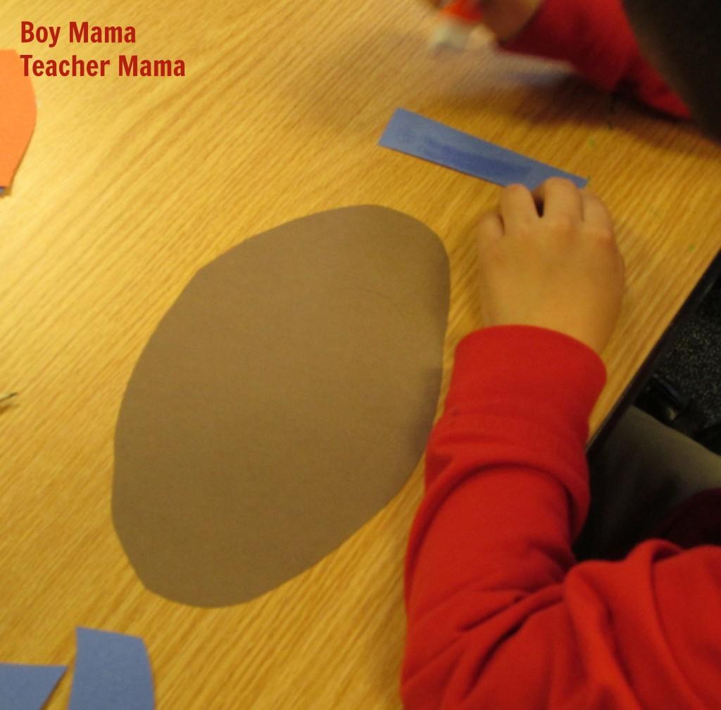 Boy Mama Teacher Mama  Football Glyph