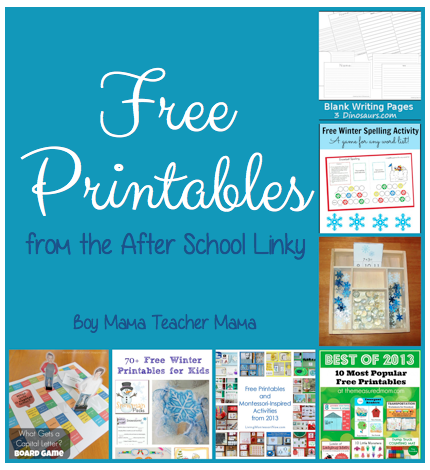 Boy Mama Teacher Mama | Free Printables From the After School Linky