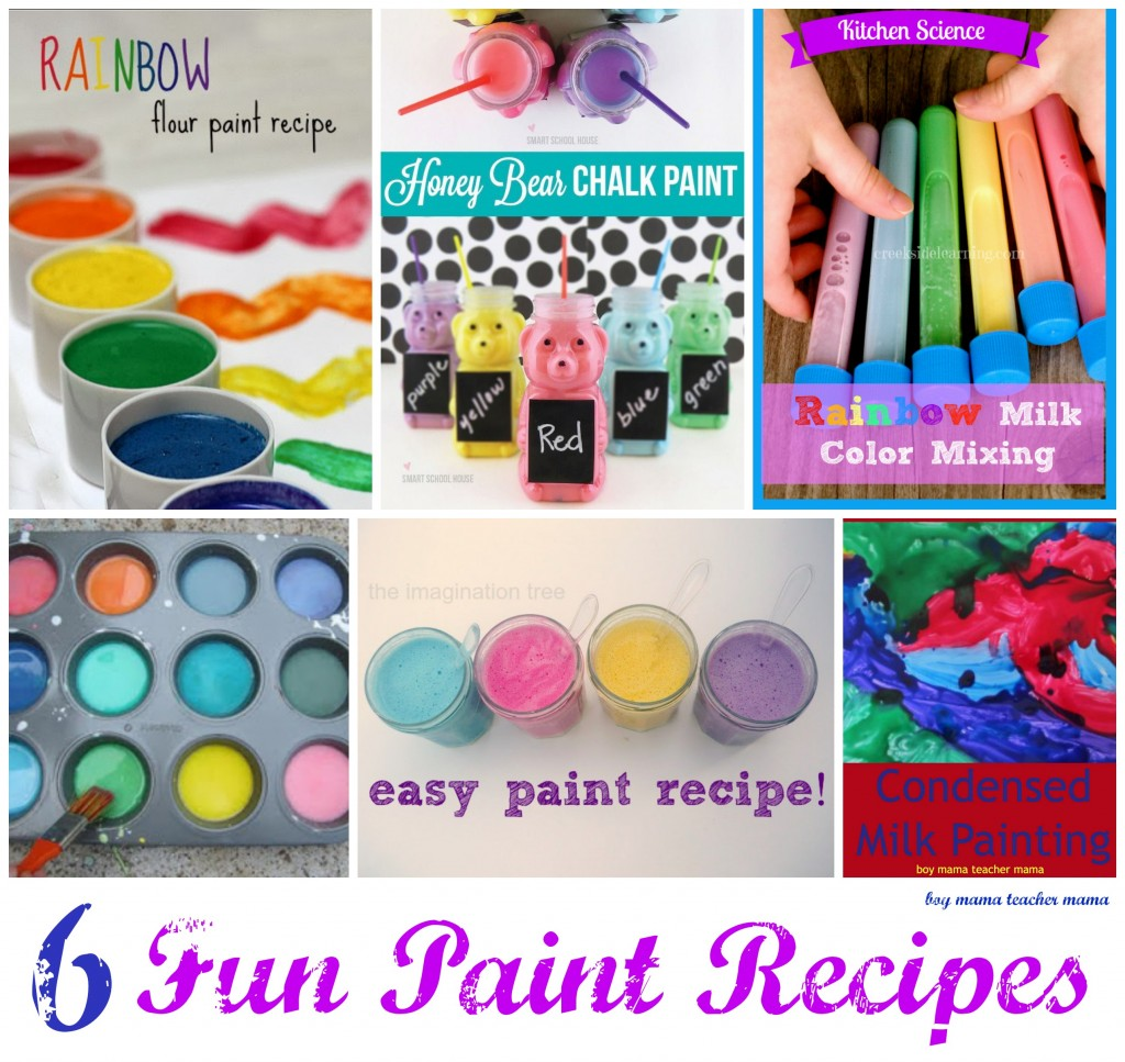 Boy Mama Teacher Mama  6 Fun Paint Recipes