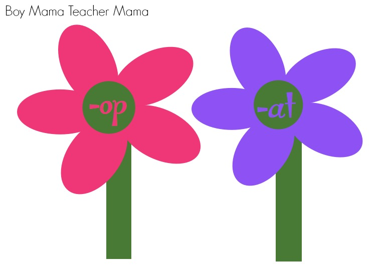 Boy Mama Teacher Mama  Spring Word Family Game (4)
