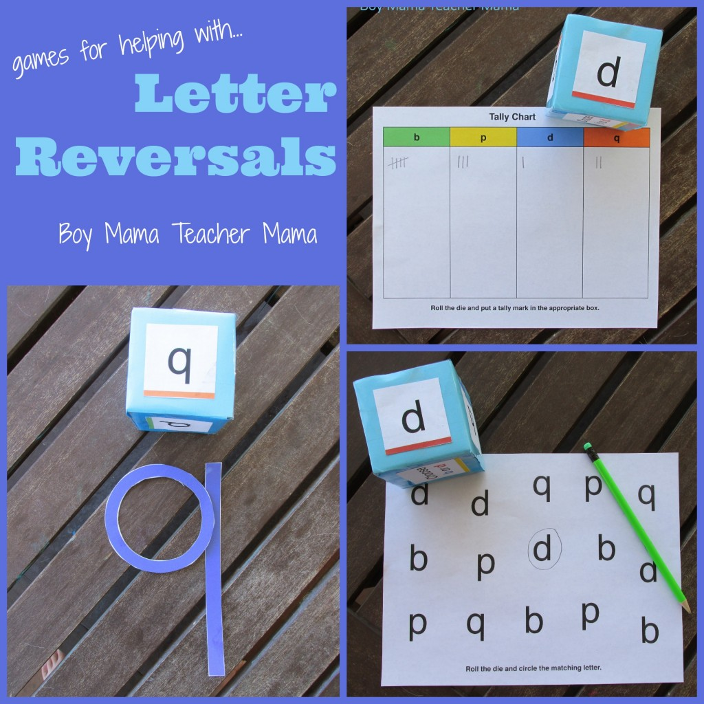 Boy Mam Teacher Mama | Games for Letter Reversals