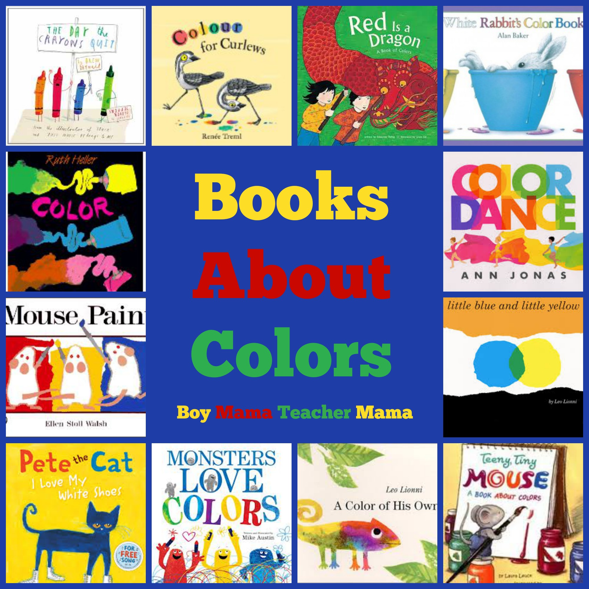 Book Mama Books about Colors Boy Mama Teacher Mama