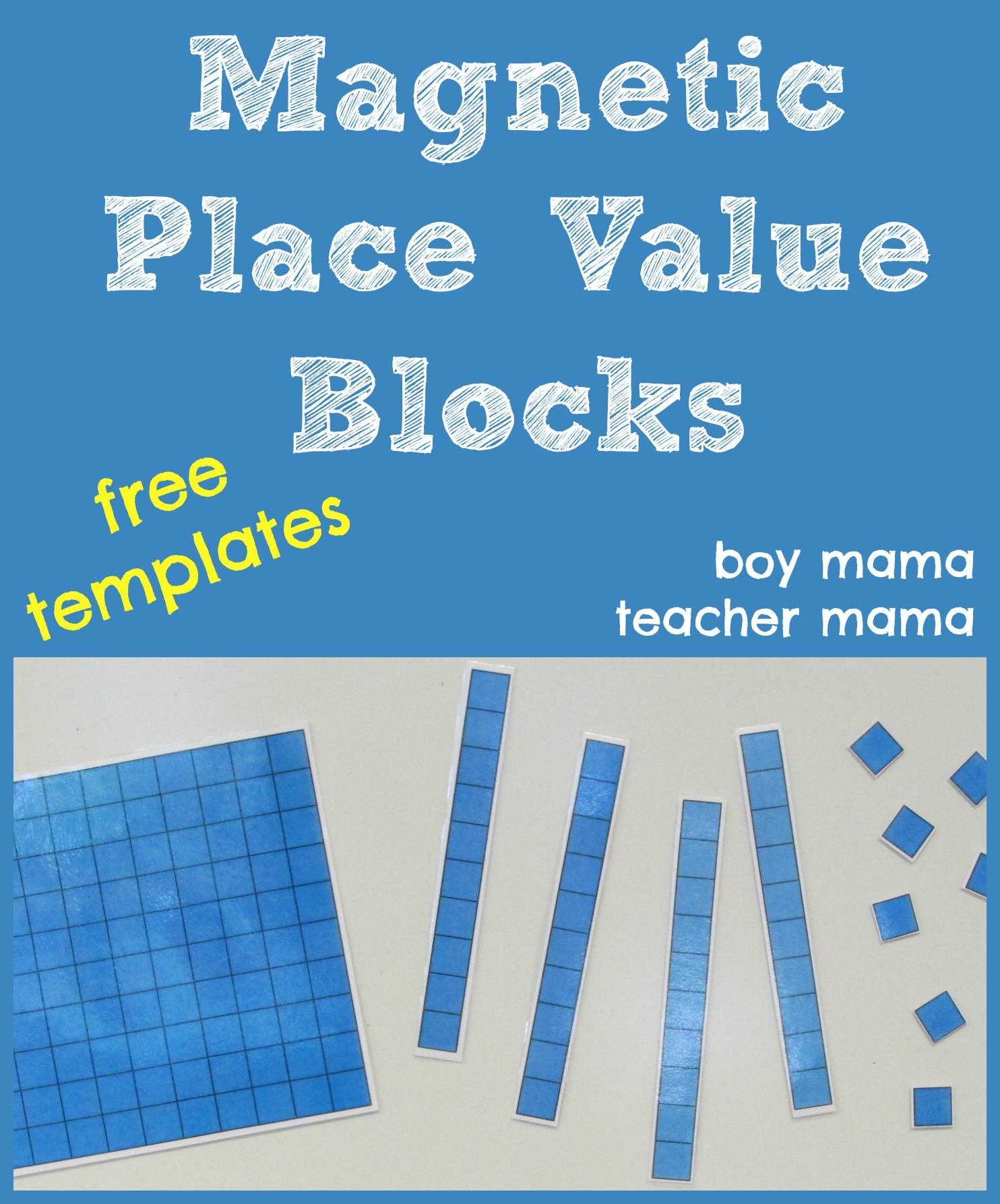 place value blocks templates