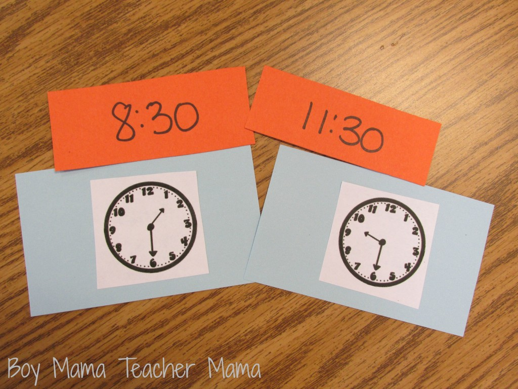 Boy Mama Teacher Mama  Time Bingo Game 3