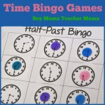 Boy Mama Teacher Mama Time Bingo Games