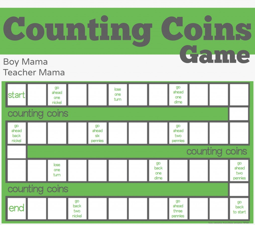 Math Games For Kids Counting Coins