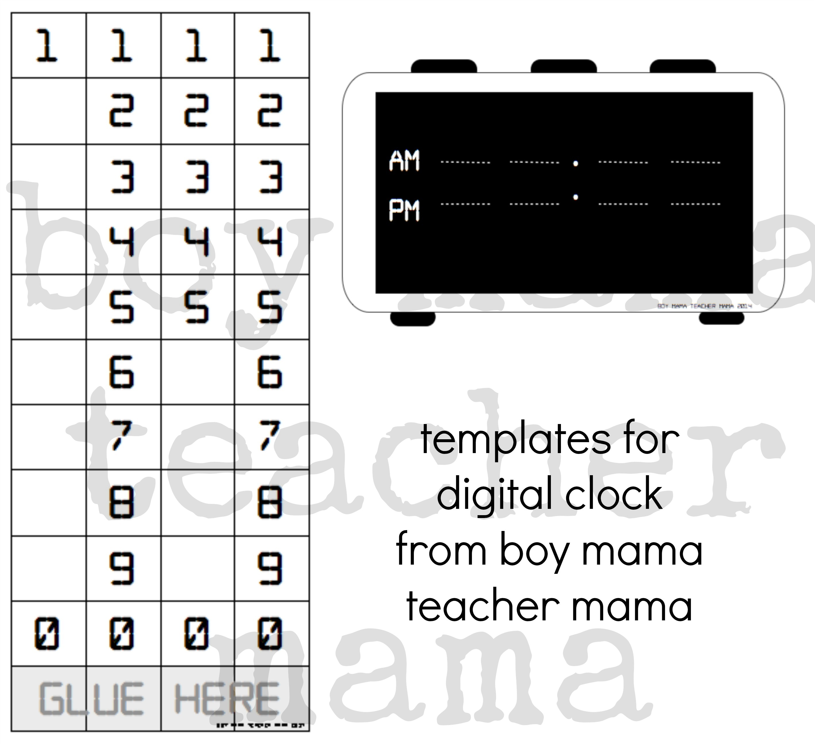 Teacher Mama: Creating a Digital Clock for Teaching Time - Boy Mama ...