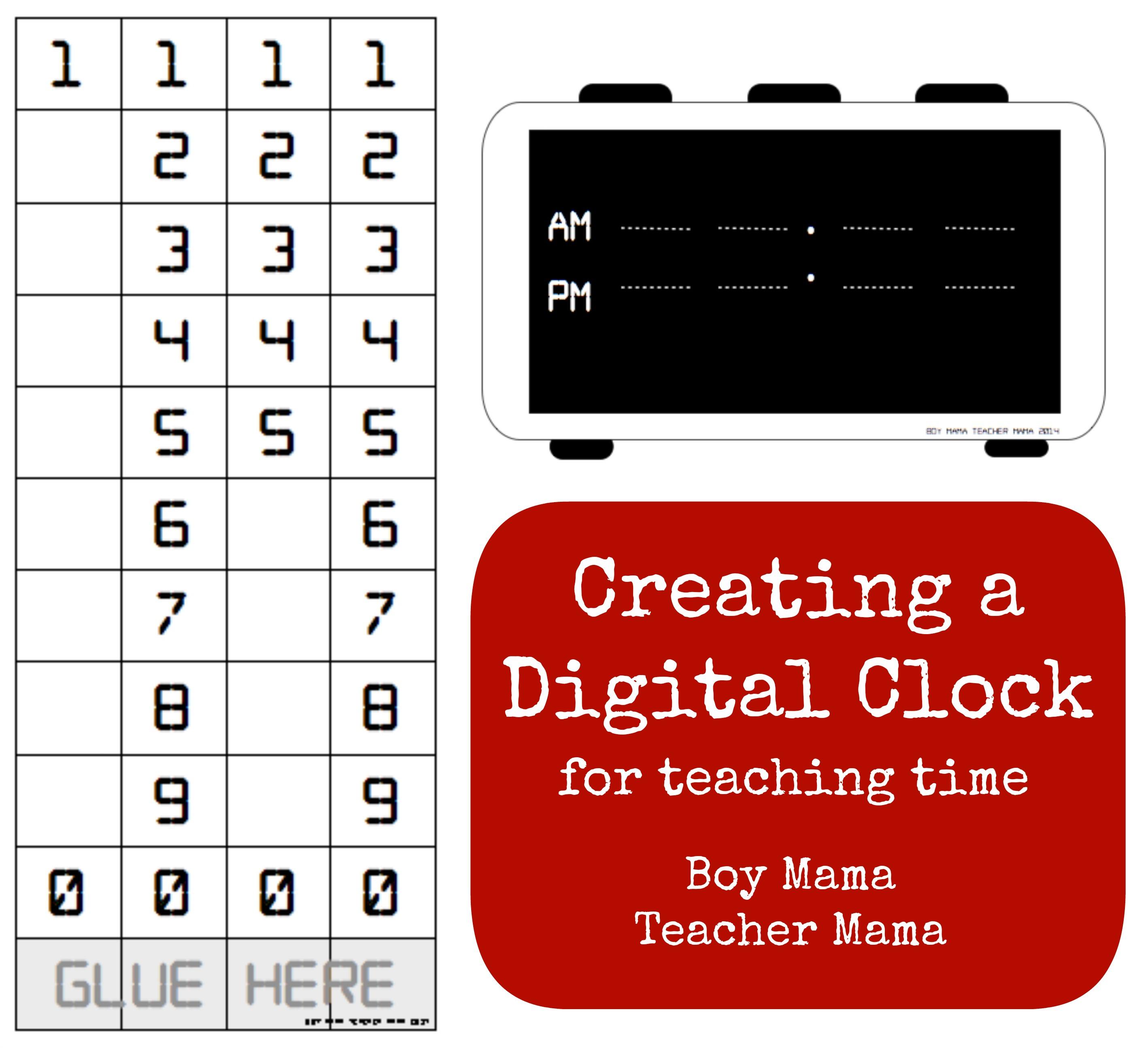 Teacher Mama Creating A Digital Clock For Teaching Time Boy Mama
