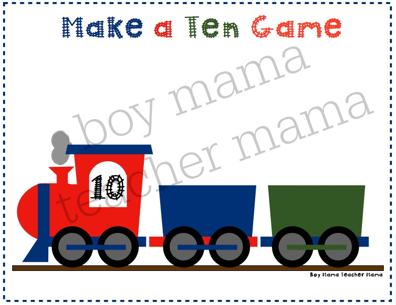 Boy Mama Teacher Mama  Make a Ten Train Game .jpg