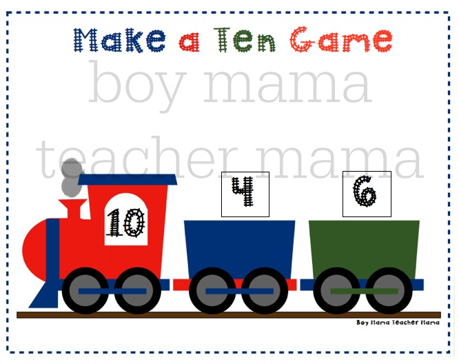 Boy Mama Teacher Mama  Make a Ten Train Game 7.jpg