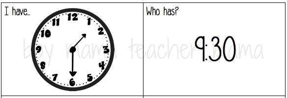 Boy Mama Teacher Mama Games to Teach Time to the Hour and Half Hour.jpg