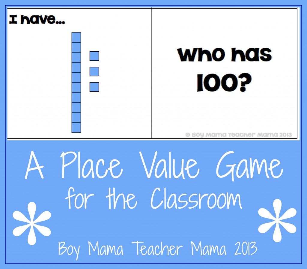 Boy Mama Teacher Mama | A Game for Teaching Place Value