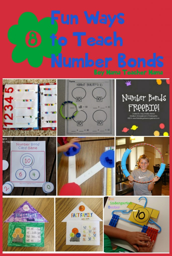 Boy Mama Teacher Mama  8 Fun Ways to Teach Number Bonds