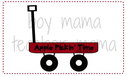Boy Mama Teacher Mama  Apple Pickin' Time Math Game 3