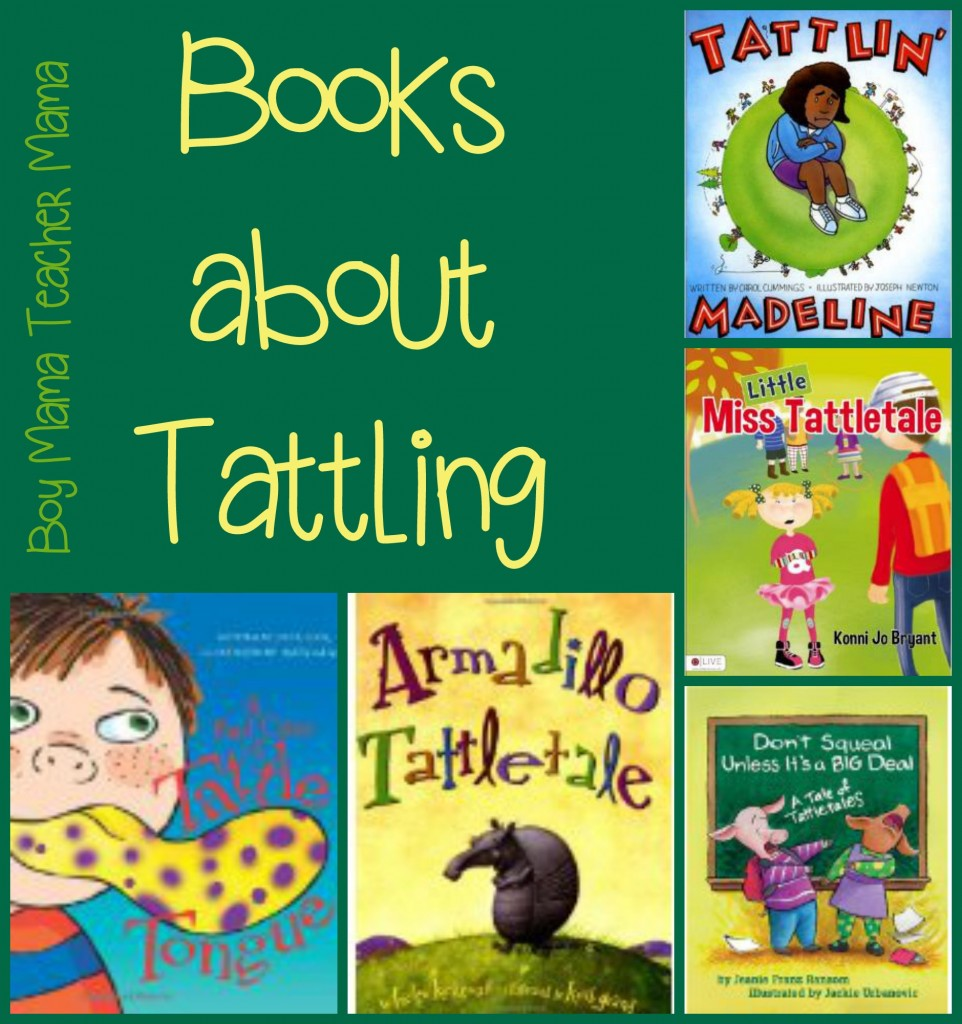 Boy Mama Teacher Mama  Books about Tattling