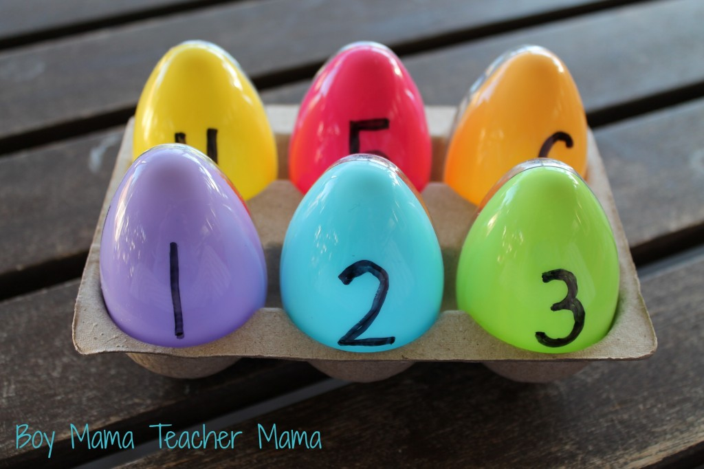 Boy Mama Teacher Mama  Number Bond Eggs