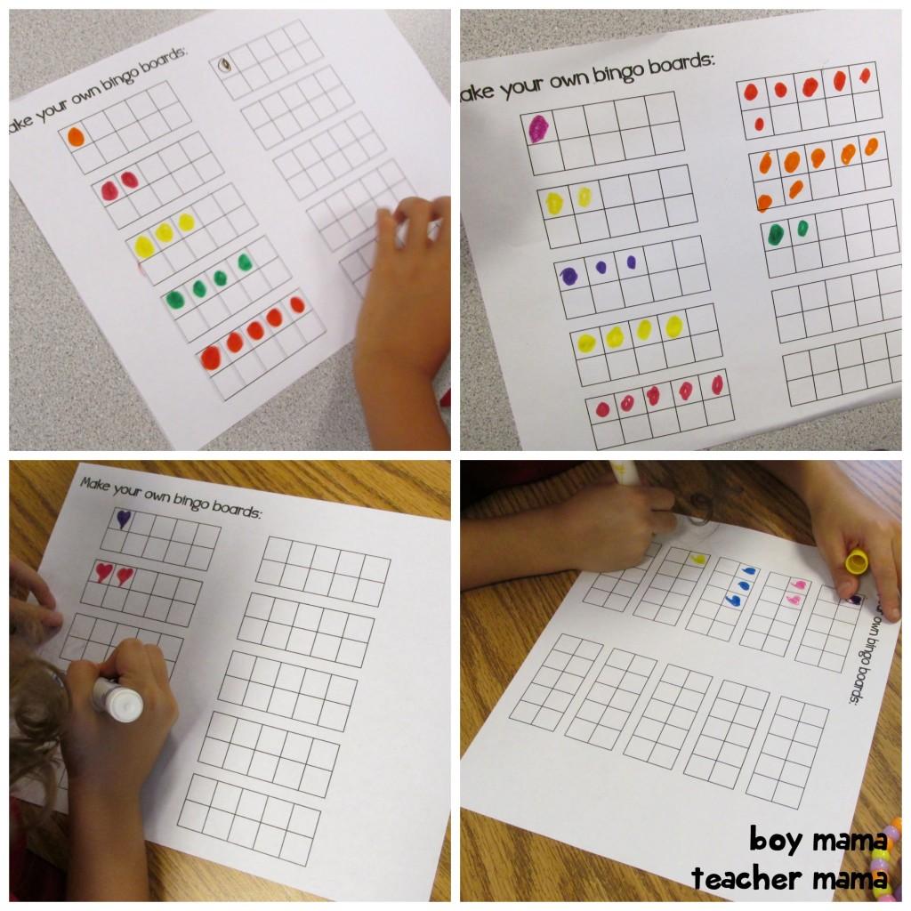 Boy Mama Teacher Mama  Ten Frame Bingo