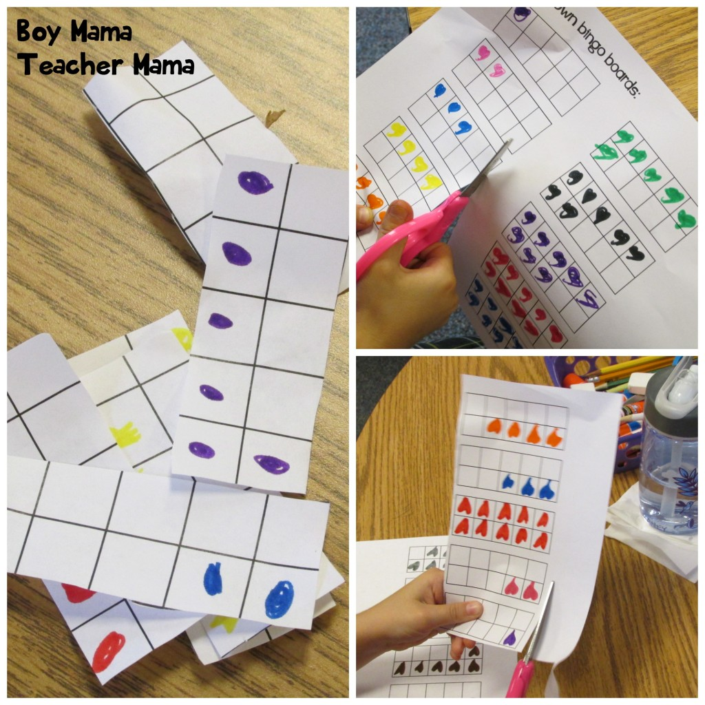 Boy Mama Teacher Mama  Ten Frame Bingo 2
