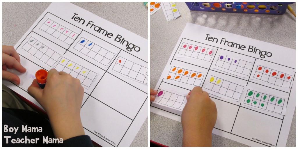 Boy Mama Teacher Mama  Ten Frame Bingo 3