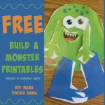 Boy Mama Teacher Mama  Free Build a Monsters (featured)