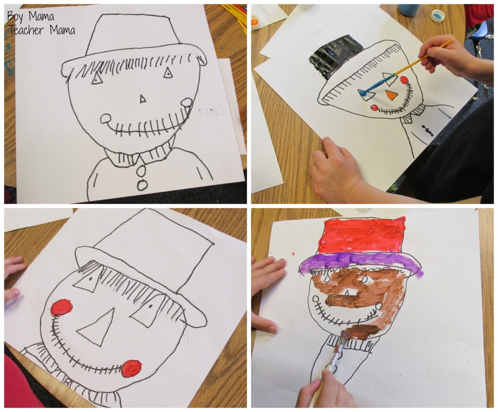 Boy Mama Teacher Mama  Scarecrow Art 2